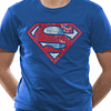 T-shirt Superman Logo Distressed