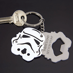 Porta-chaves Star Wars Stormtrooper com Tira-cápsulas