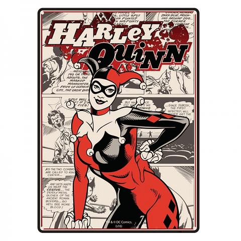 Placa de Metal Harley Quinn