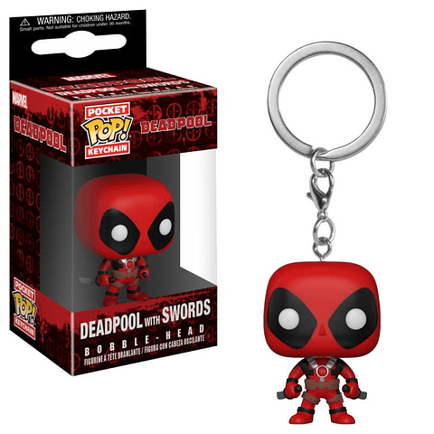 Porta-chaves Pocket POP! Deadpool: Deadpool with Swords