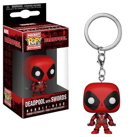 Porta-chaves Pocket POP! Deadpool: Deadpool with Swords
