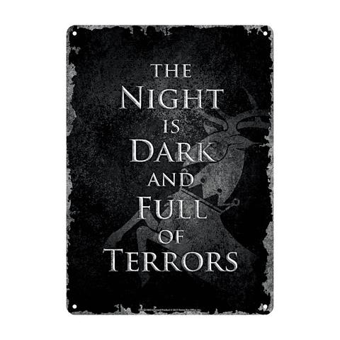 Placa de Metal Game of Thrones Night Dark