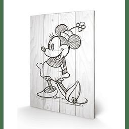 Quadro em Madeira Minnie Mouse Sketched