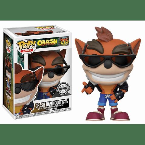 POP! Games: Crash Bandicoot - Crash Bandicoot with Biker Outfit Edição Limitada