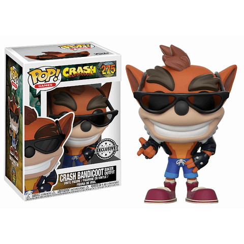 POP! Games: Crash Bandicoot - Crash Bandicoot with Biker Outfit Edição Exclusiva