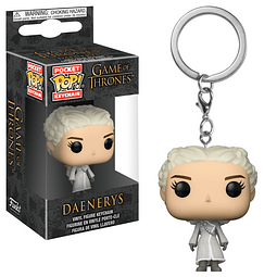 Porta-chaves Pocket POP! Game of Thrones: Daenerys  with White Coat
