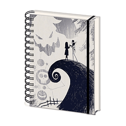 Notebook A5 The Nightmare Before Christmas - Spiral Hill