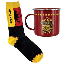 Gift Set Harry Potter Mug & Socks Gryffindor Quidditch