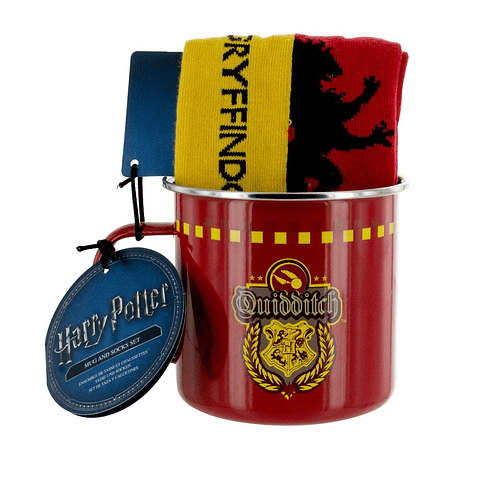 Gift Set Harry Potter Mug & Socks Gryffindor Quidditch