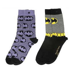 Conjunto de Meias DC Comics Batman Purple
