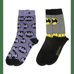 Conjunto de Meias DC Comics Batman Purple