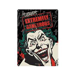 Placa de Metal The Joker Extremely Dangerous