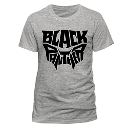 T-shirt Black Panther Text Logo