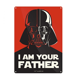 Placa de Metal Star Wars I Am Your Father