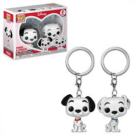 Porta-chaves Pocket POP! 101 Dalmatians: Pongo & Perdita
