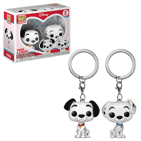 Porta-chaves Pocket POP! 101 Dalmatians: Pongo & Perdita