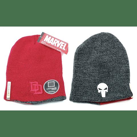 Gorro Reversível Daredevil / The Punisher
