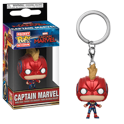 Porta-chaves Pocket POP! Captain Marvel: Captain Marvel with Helmet