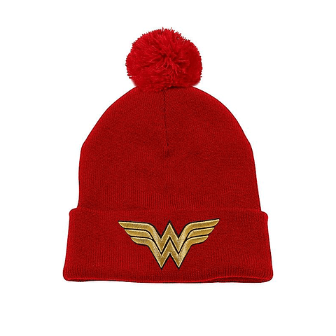 Gorro Wonder Woman Gold Logo
