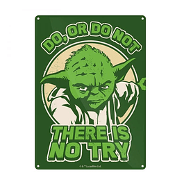 Placa de Metal Star Wars There Is No Try