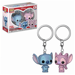 Porta-chaves Pocket POP! Disney: Stitch & Angel