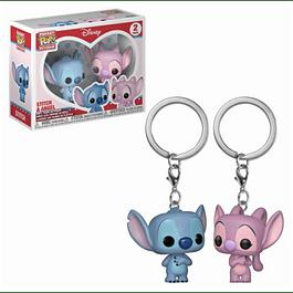 Porta-chaves Pocket POP! Lilo & Stitch: Stitch & Angel