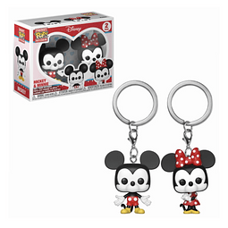 Porta-chaves Pocket POP! Disney: Mickey & Minnie
