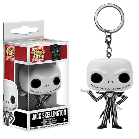 Porta-chaves Pocket POP! The Nightmare Before Christmas: Jack Skellington