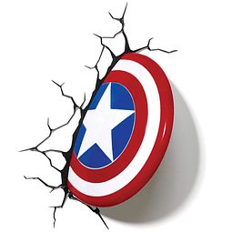 Luz de Presença Marvel Captain America Shield