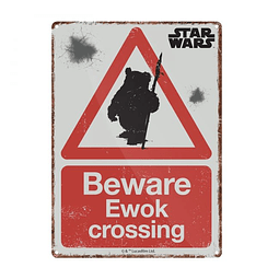 Placa de Metal Star Wars Ewok Crossing