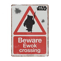 Placa de Metal Star Wars Ewok Crossing