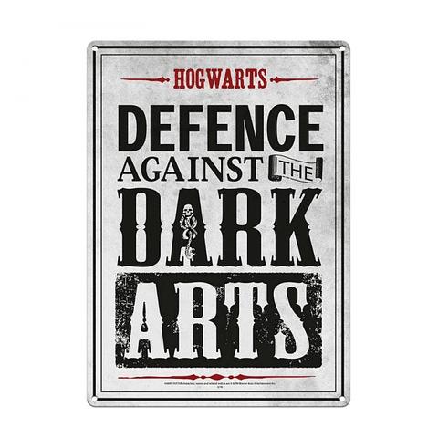 Placa de Metal Harry Potter Dark Arts