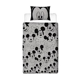 Conjunto Reversível Capa de Edredon e Fronha de Almofada Mickey Mouse