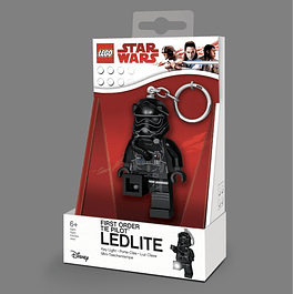 Porta-chaves Key Light LEGO Star Wars First Order Tie Pilot