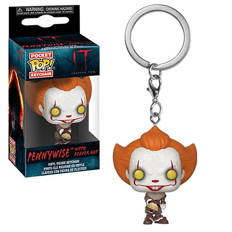 Porta-chaves Pocket POP! IT Chapter 2: Pennywise with Beaver Hat
