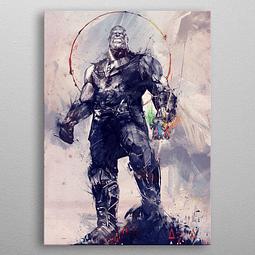 Poster de Metal Marvel Infinity War Infinity Gauntlet