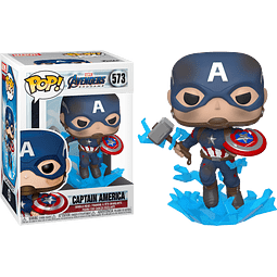 POP! Marvel Avengers Endgame: Captain America (with Broken Shield and Mjolnir)