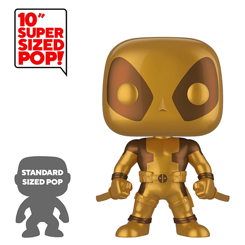 POP! Deadpool: Deadpool Two Swords Gold Special Edition (Super Sized)