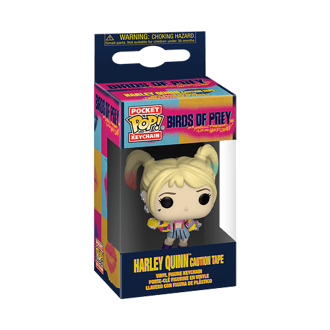 Porta-chaves Pocket POP! Birds of Prey: Harley Quinn (Caution Tape)