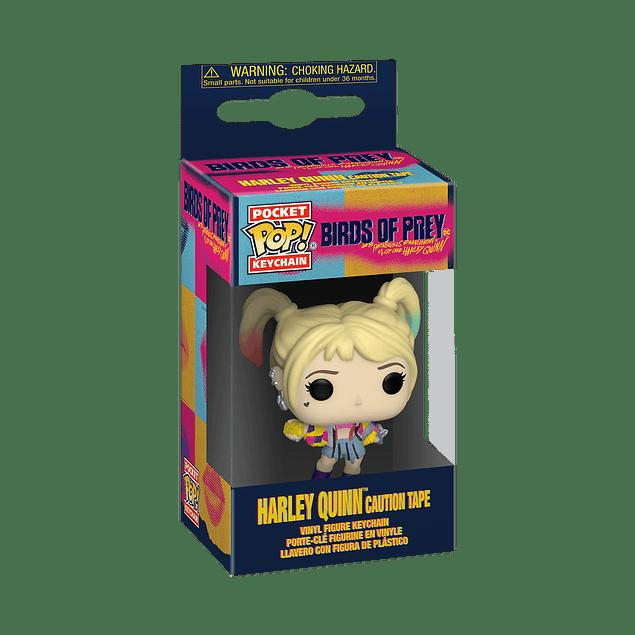 Porta-chaves Pocket POP! Birds of Prey: Harley Quinn (Caution Tape)