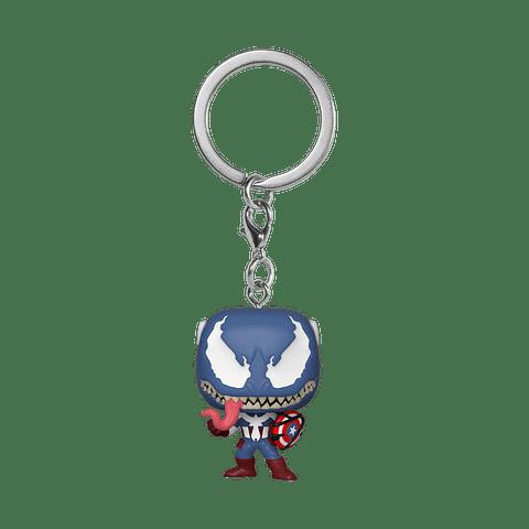 Porta-chaves Pocket POP! Marvel Venom: Venomized Captain America