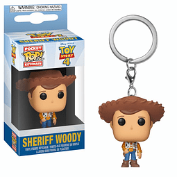 Porta-chaves Pocket POP! Disney Pixar Toy Story 4: Sheriff Woody