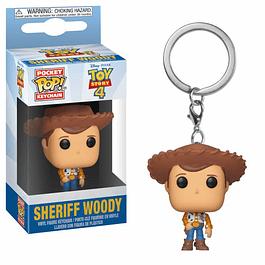 Porta-chaves Pocket POP! Disney Pixar Toy Story 4: Sheriff Woody