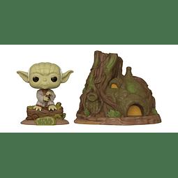 POP! Town: Star Wars Empire Strikes Back 40th Anniversary - Dagobah Yoda with Hut