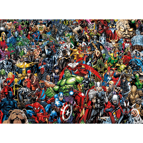 Puzzle 1000 Peças Marvel 80th Anniversary Impossible Puzzle Characters