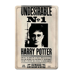 Placa de Metal 3D Harry Potter Undesirable Nº 1