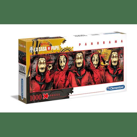 Puzzle 1000 Peças La Casa de Papel Characters Panorama