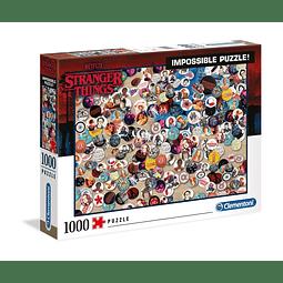 Puzzle 1000 Peças Stranger Things Impossible Puzzle Buttons