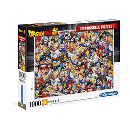 Puzzle 1000 Peças Dragon Ball Impossible Puzzle Characters