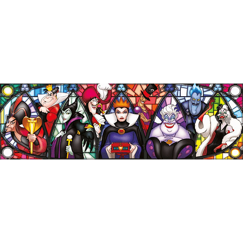 Puzzle 1000 Peças Disney Villains Panorama